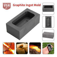 Gold Silver Large Graphite Ingot Mold Melting Casting Refin Scrap Bar Crucible