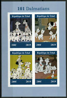 Chad 2019 MNH 101 Dalmatians 4v IMPF M/S Dogs Disney Cartoons Animation Stamps