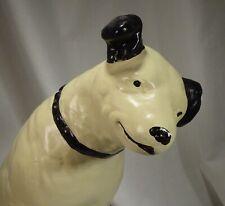"Vintage RCA Victor 14.5"" Plaster Chalkware Nipper Display Dog  -  57906"
