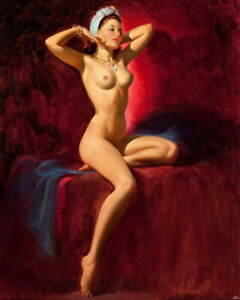 Art Frahm Pin Up Girls Giclee Art Paper Print Paintings Poster Reproduction