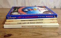 Vintage Disney Book Lot 4 Art of Animation America on Parade Art of Walt Disney