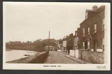 Postcard Pill Bristol Avon Somerset early view of Marine Parade houses RP