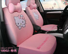1 Set Hello Kitty Woman Cute Cartoon Car Seat Covers Universal Cotton Kt02 Pink