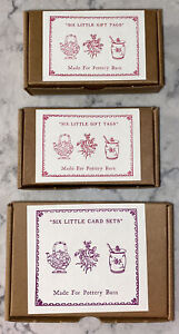 NEW AUSTIN PRESS FOR POTTERY BARN, 2 BOXES OF 6 LITTLE GIFT TAGS & 1 BOX 6 CARDS