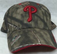 MLB Mens One Size Philadelphia Phillies Mossy Oak Adjustable Ball Cap Hat NEW