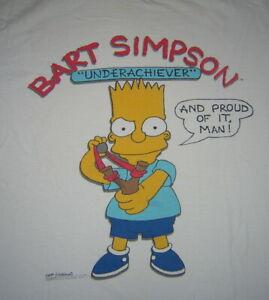 Genuine Original Vintage 1989 Bart Simpson: Underachiever Men's T-Shirt XL