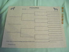 American Water Spaniel Blank Pedigree Sheets Pack 10 dog canine
