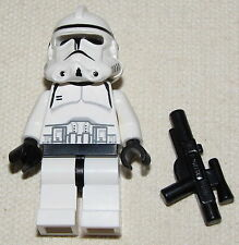 LEGO STAR WARS EPISODE 3 CLONE TROOPER MINIFIGURE MINIFIG WITH GUN BLASTER