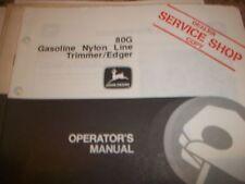 John Deere Operator'S Manual 80G Gasoline Nylon Line Trimmer/Edger