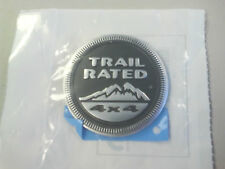Jeep Wrangler TRAIL RATED 4x4 Round Metal Emblem OEM 55157318AB