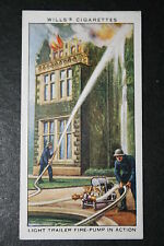 British Light Trailer Fire Pump   Firefighters   1930's Vintage Card VGC