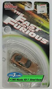 """Racing Champions Series 3 """"Fast & Furious"""" 1993 Mazda RX-7 Street Racer See pics"""
