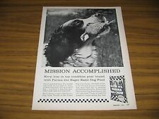 1961 Print Ad Purina Dog Chow Hunting Dog & Bird