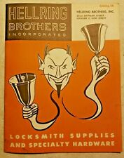 VINTAGE HELLRING Brothers Inc. Catalog #5A: Lock & Locksmith Supplies- Newark NJ
