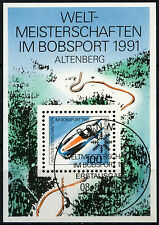 West Germany 1991 SG#MS2344 Bobsleigh Championships Cto Used M/S Sheet #D41547