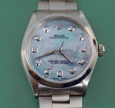 "Rolex ""AirKIng"" Ref.5500 MOP Diamond Dial Stainless Steel  Men Perpetual Watch"