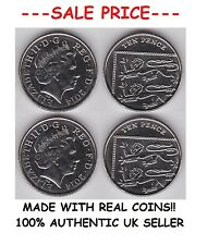 Pair of Real Double Sided 10 Pence Coin 1 Two Headed and 1 Two Tailed 10p Coin