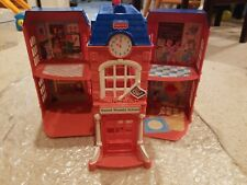 Fisher Price Sweet Streets School Toy Dollhouse 2002 Mattel Door Decals Ball Gym