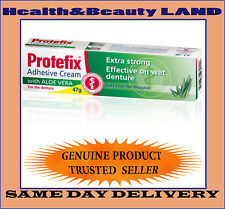 Protefix Adhesive 47g Extra Strong Denture Plate Fixing Cream with ALOE VERA