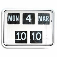 Grayson White Digital Easy to Read Calendar Wall Clock Bank Shop BNIB - G225