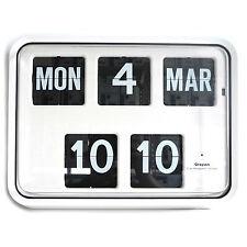 Grayson Blanco digital fácil de leer Calendario Reloj De Pared Banco Tienda BNIB-G225