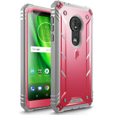 For Moto G6 Play Case Poetic Revolution Series Heavy Duty Full Body Cover Pink