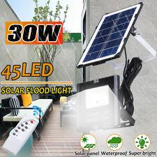 45 LED Bright Solar Powered Sensor Flood Security Light Outdoor Garden Wall Road