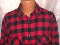 Woolrich Shirt Men's XL Black Red Vtg Check Flannel Plaid Button Down Cotton Euc