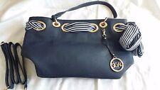 Sigal Tasche dunkelblau Schnallen Luxus Hand Henkel Tasche NEU