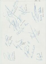 BAYERN MUNICH 1991-1992 RARE ORIGINAL HAND SIGNED A4 SHEET X 10 SIGNATURES