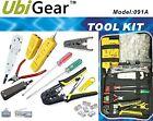 UbiGear Network Cable Tester Finder Probe +Crimper +100 CAT5e RJ45 Plug Tool Kit