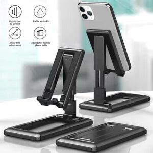 Foldable Universal Mobile Phone Tablet Desk Stand Holder Mount Cradle Adjustable