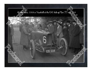 Historic AJ Hancock's 3308 cc Vauxhall 1914 Isle Of Man TT Postcard 2
