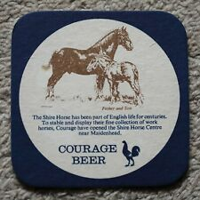 Vintage Courage Beer Mat Shire Horse Centre - Father/Son / Drink Drive Message
