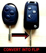 for FORD MONDEO FIESTA PUMA FOCUS KA TRANSIT REMOTE FLIP KEY FOB CASE CONVERT mo