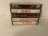 Lot Of 6 Vintage Rock Cassette Tapes Reo Speedwagon Ac/DC