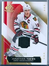 JONATHAN TOEWS 2015-16 SP GAME USED JERSEY / PATCH SP/25