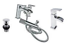 NUOVO! Mondella Chrome Miscelatore doccia bagno cascata rubinetto & Mono Rubinetto prezzo consigliato: 300 GBP!