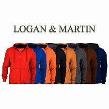 Logan & Martin Men's Fleece-Lined Zip-Up Hoodies in 8 Colors and Sizes Med-XXL