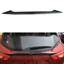 Carbon Fiber Rear Door Trunk Lid spoiler Cover Trim For Nissan Qashqai 2015-2017