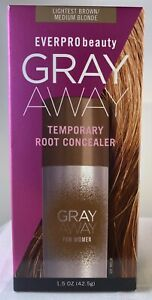 Everpro Gray Away Women Temporary Root Concealer, Lightest Brown/Medium Blonde