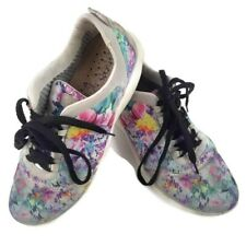Geox Womens Running Shoes Size 7 Floral Inner Breathing System Athletic Sneakers