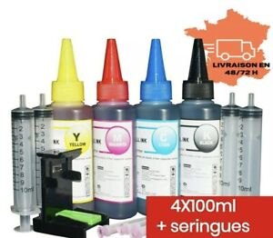 Recharge encre pour imprimante Hp Canon Brother Lexmark universel 100 ml