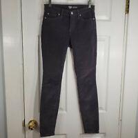 GAP Size 0 Gray LEGGING Corduroy Skinny Leg Stretch Pants Slacks Trousers Womens