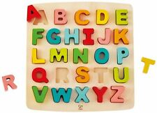 Hape Chunky Alphabet Puzzle Pre-School Young Children Wooden Toy Game Bn