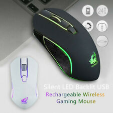 X9 Wireless Mouse Silent USB LED Gaming Mice Rechargeable For PC Laptop