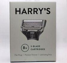 NEW! 8 Harry's Razor Blade Refill Cartridges ~ 5 German Blades, Flex Hinge