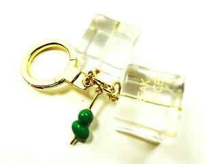 KATE SPADE Brake the Ice Gold Plated Clear Resin & Enamel Key Fob