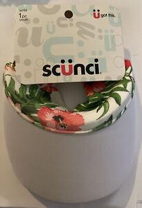 Scunci Everyday Active Visor White Floral Multi 1 Pc