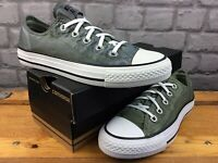 CONVERSE LADIES UK 4 EU 36.5 ALL STAR WASH KENT OX TRAINERS OLIVE BOYS RRP £50